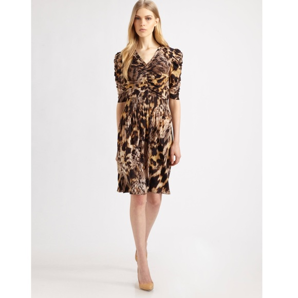 Yigal Azrouël Leopard Print Mini Dress